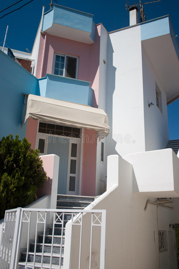 Modern house in Greece royalty free stock photography