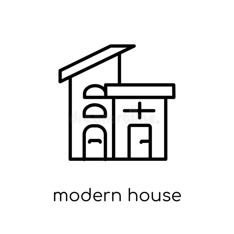 modern house icon from Real estate collection. royalty free illustration
