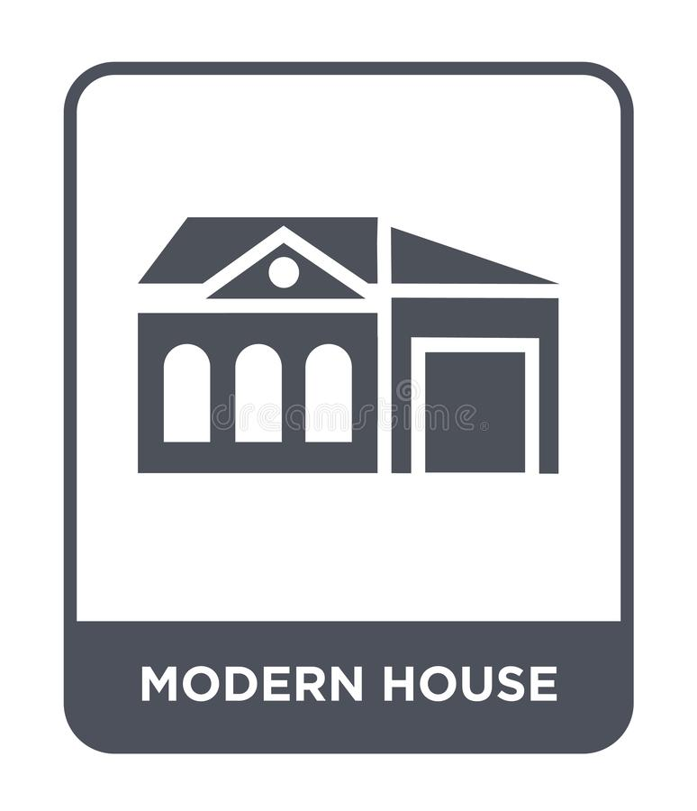 Modern house icon in trendy design style. modern house icon isolated on white background. modern house vector icon simple and. Modern flat symbol for web site vector illustration