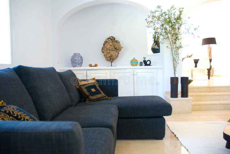 Modern house interior royalty free stock photos