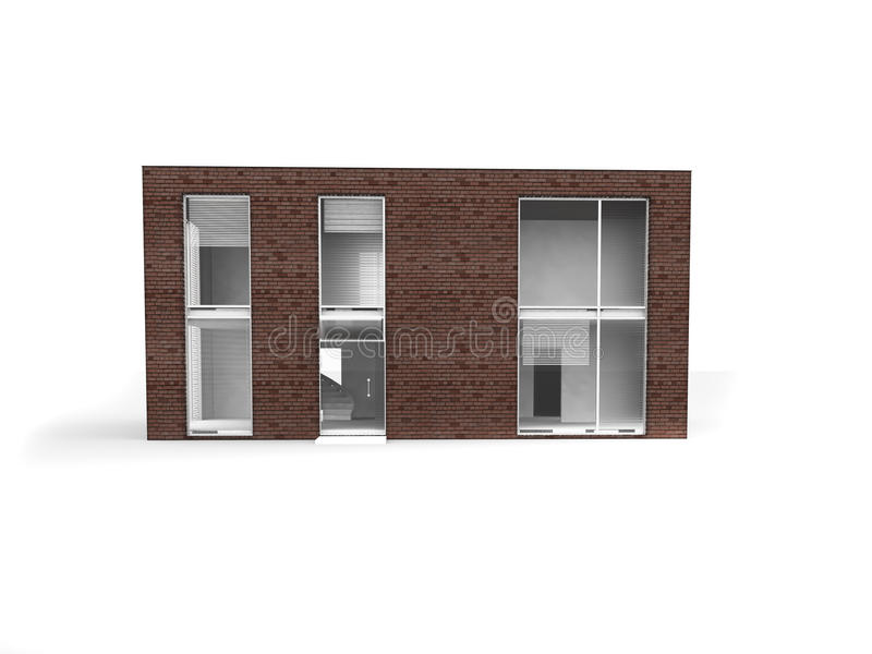 Modern House Isolate Royalty Free Stock Image