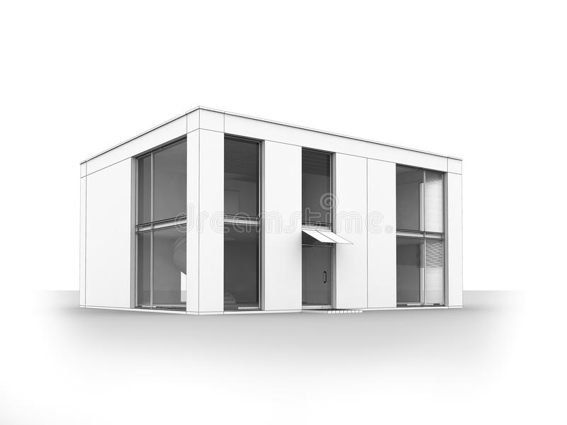 Download Modern House Isolate Royalty Free Stock Images - Image: 13180239