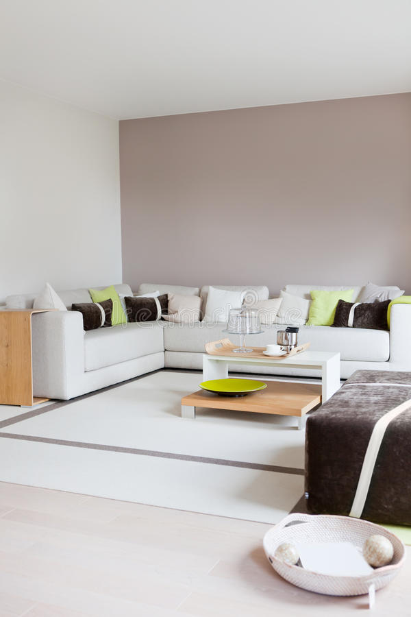 Modern house, living-room with stock photography