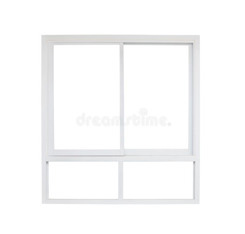 Modern house window frame isolated on white. Background royalty free stock image