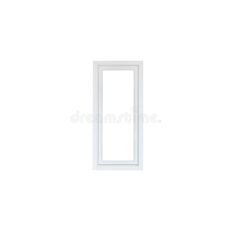 Modern house window frame isolated on white. Background royalty free stock photo