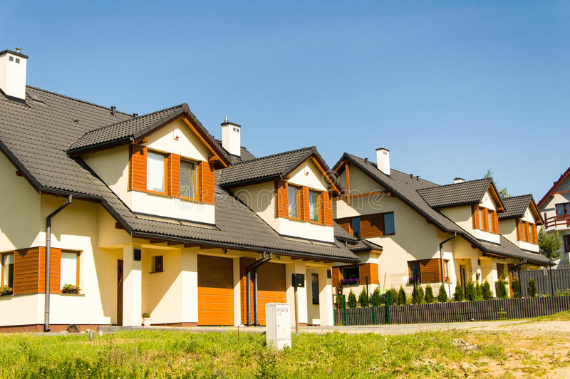 Modern houses royalty free stock photography