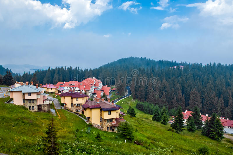 The modern houses and hotels in Bulgaria stock images