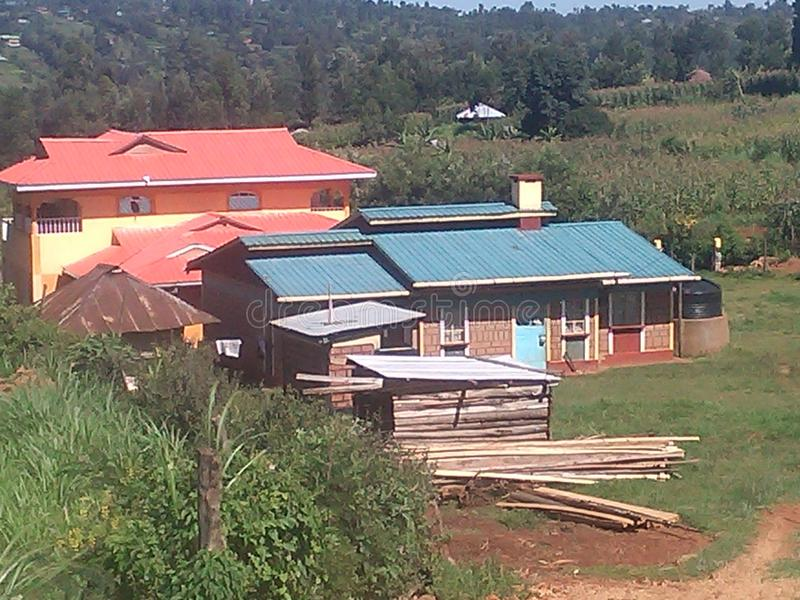 Modern houses in kisii kenya. This is one of the best houses in local area in kisii kenya and this is how is looking like royalty free stock photo