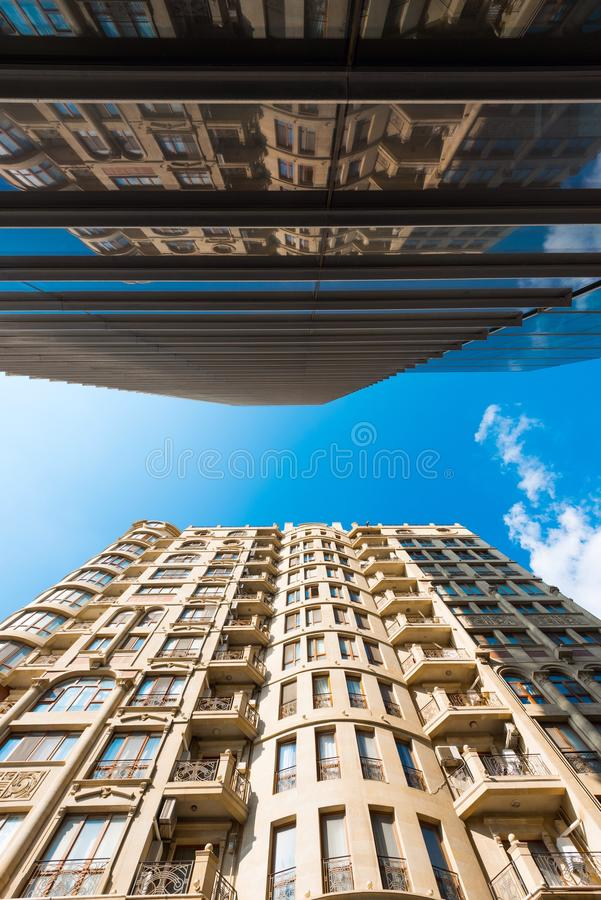 Skyscraper. Two high modern houses skyscrapers royalty free stock image