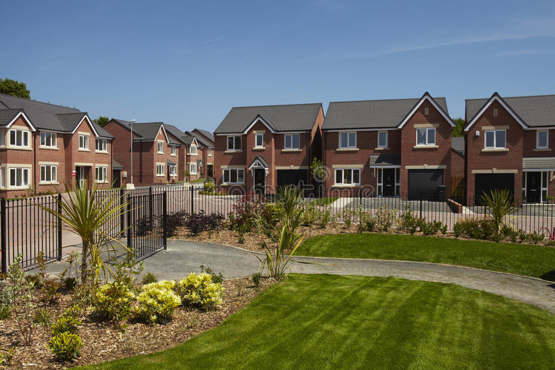Modern housing development royalty free stock images