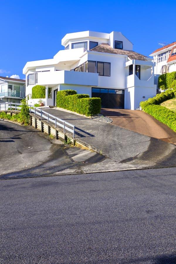 Modern Huis in Auckland van de binnenstad stock foto