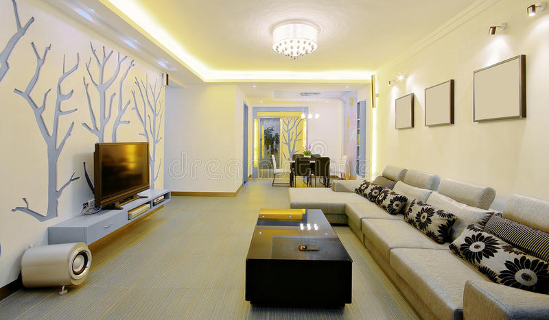 Modern huis dat stijl verfraait stock foto