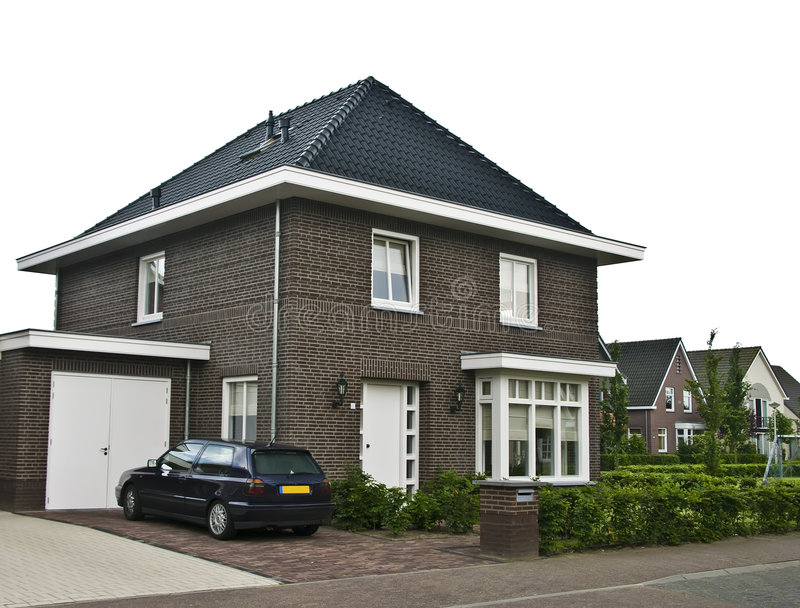 Modern huis in de voorsteden stock foto's