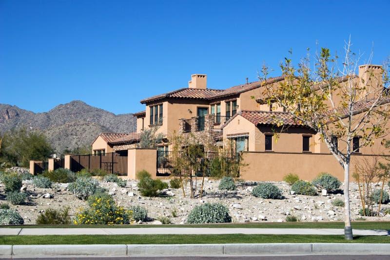 Modern huis in de Woestijn royalty-vrije stock fotografie