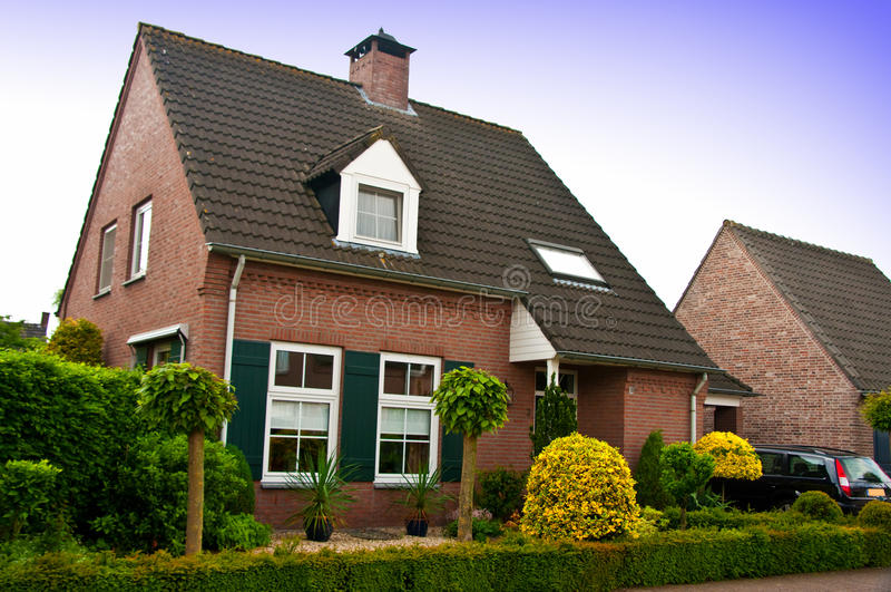Modern huis of huis stock foto's