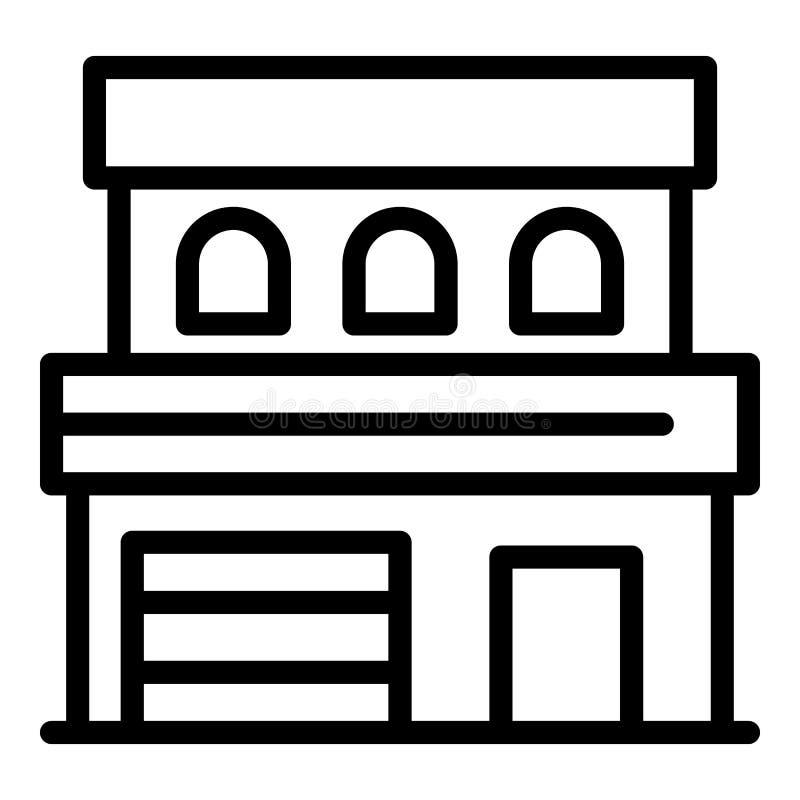 Modern huispictogram, overzichtsstijl royalty-vrije illustratie