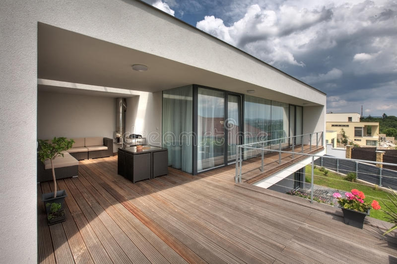 Modern huisterras
