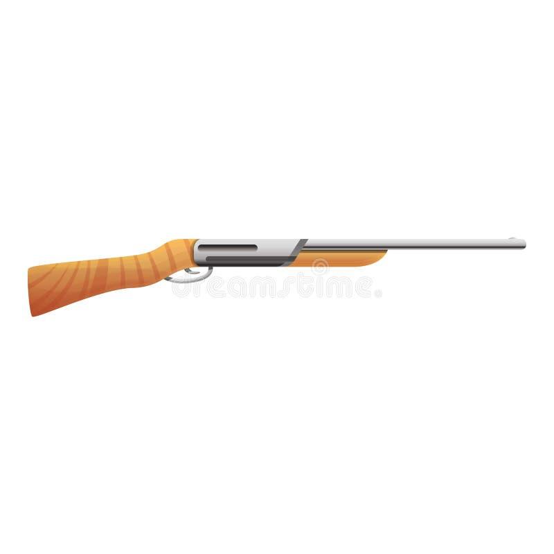 Modern hunting rifle icon, cartoon style vector illustration