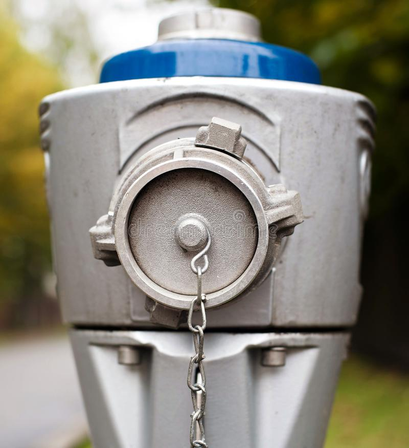 Modern steel hydrant royalty free stock photography