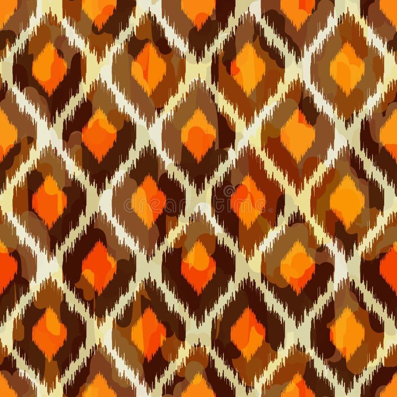 Modern ikat stammen naadloos patroon voor Web of hom royalty-vrije illustratie