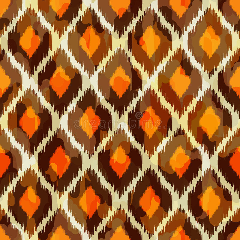 Free Modern Ikat Tribal Seamless Pattern For Web Or Hom Stock Photos - 33648243