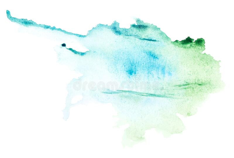 Modern image of watercolor blotch for banner design vector illustration