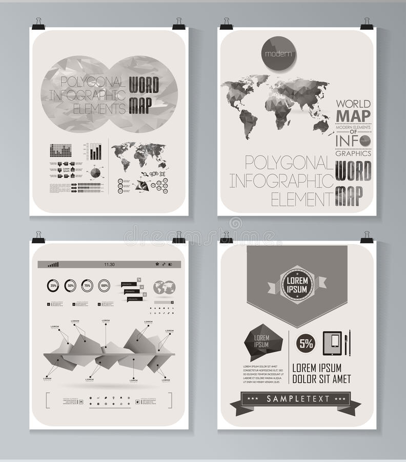Modern infographic affisch Bakgrund stock illustrationer