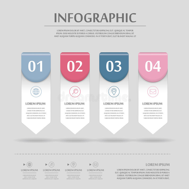 Modern infographic design stock illustrationer