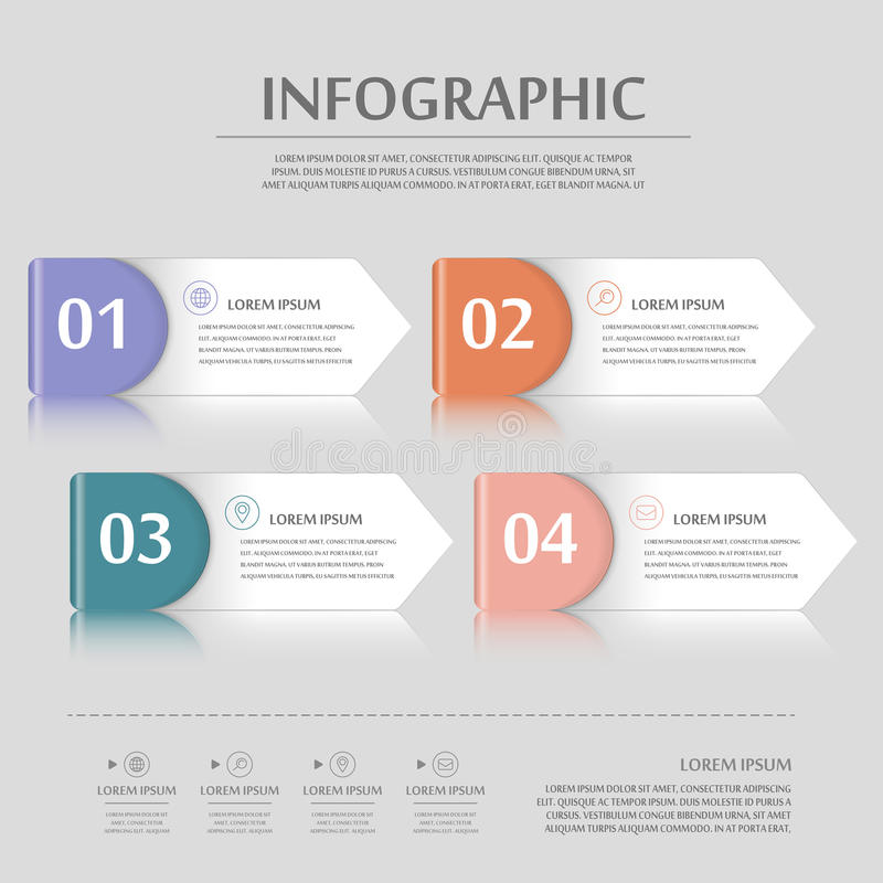 Modern infographic design royaltyfri illustrationer