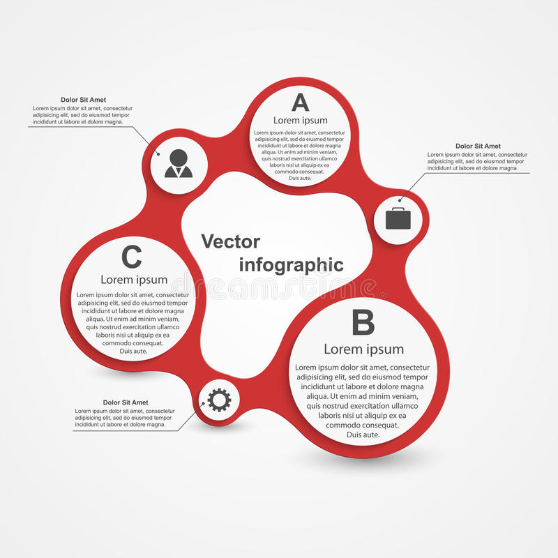Modern infographic. Design elements. royalty free illustration