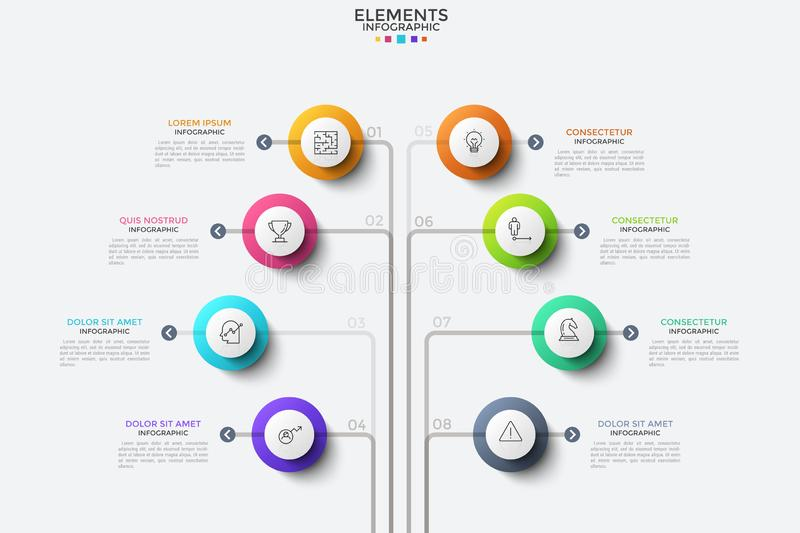 Modern infographic designmall royaltyfri illustrationer