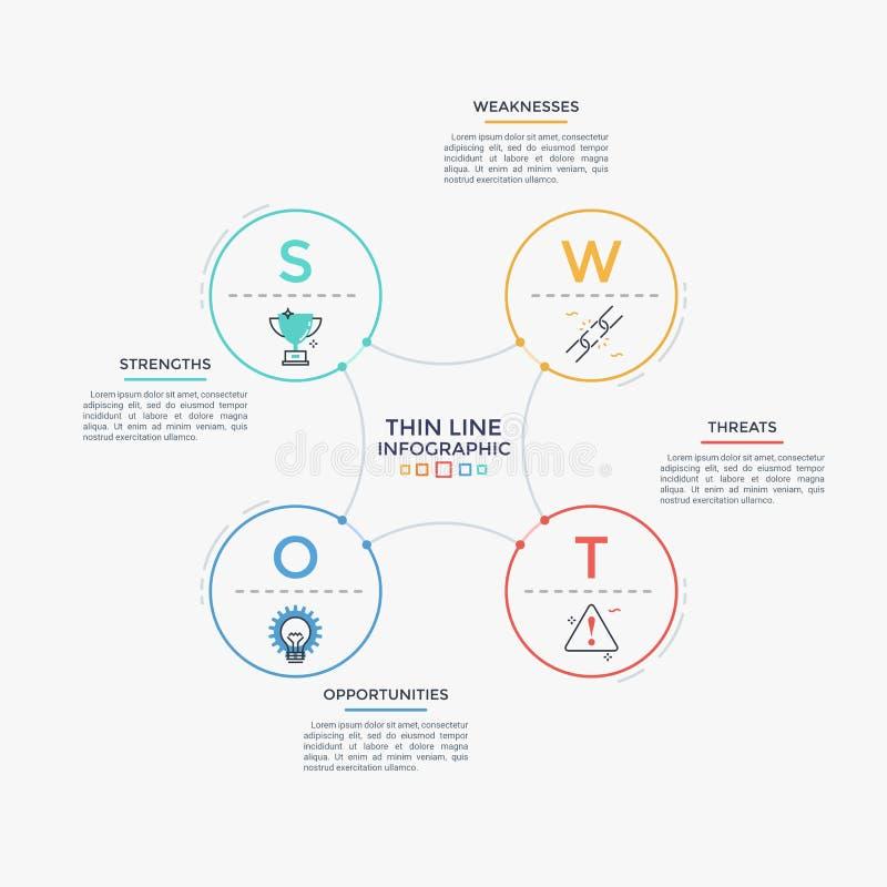 Modern infographic mall vektor illustrationer