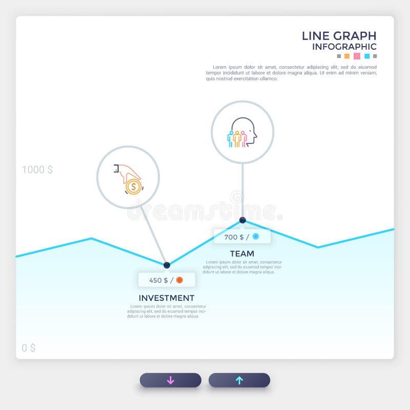 Modern infographic malplaatje vector illustratie