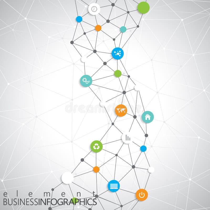 Modern infographic netwerkmalplaatje met plaats voor vector illustratie