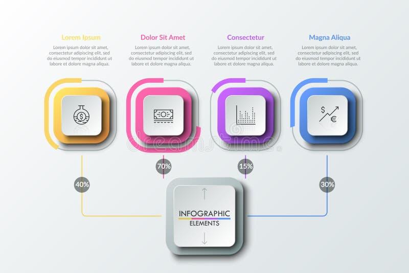 Modern infographic Ontwerpmalplaatje royalty-vrije illustratie