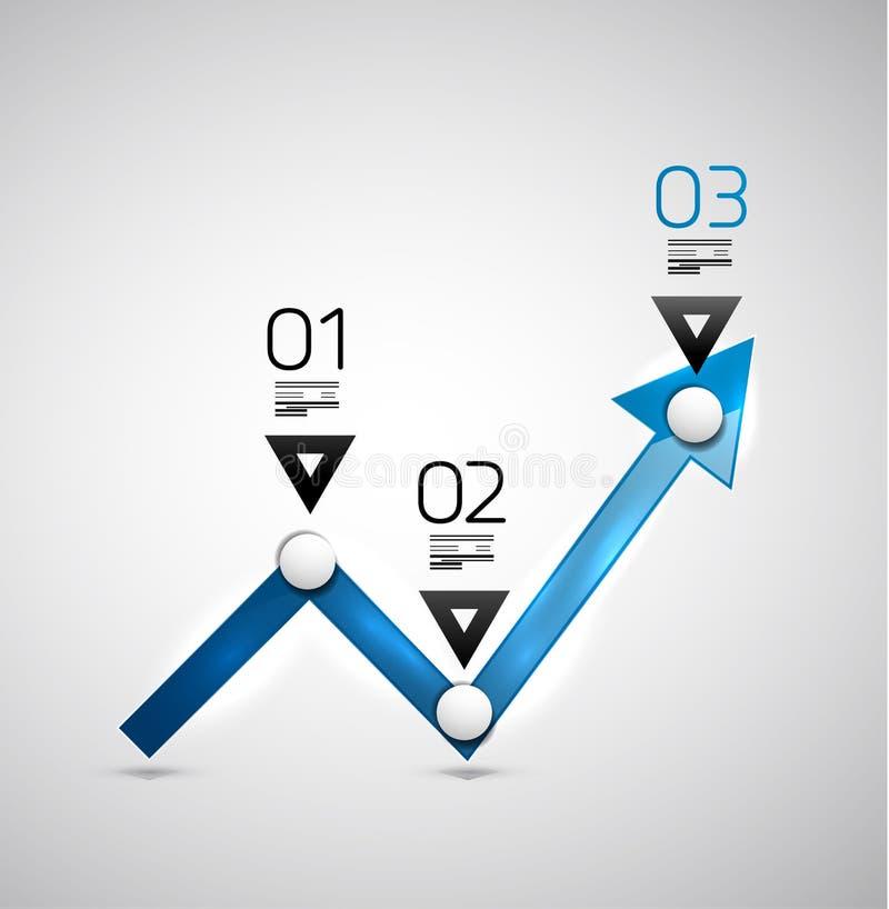 Modern infographic ontwerpmalplaatje - pijlgrafiek royalty-vrije illustratie