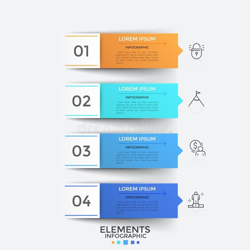 Modern infographic Ontwerpmalplaatje vector illustratie