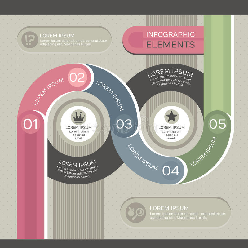 Modern Infographic Template Royalty Free Stock Images