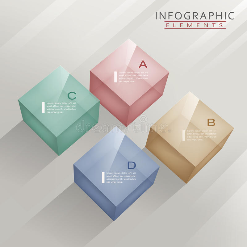 Modern infographic template royalty free illustration