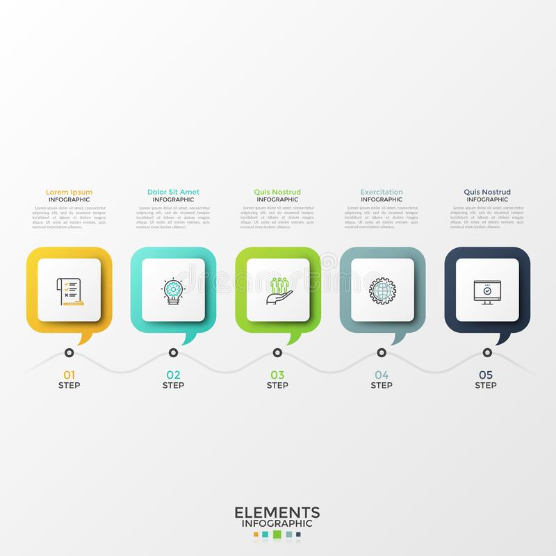 Modern Infographic Template stock illustration
