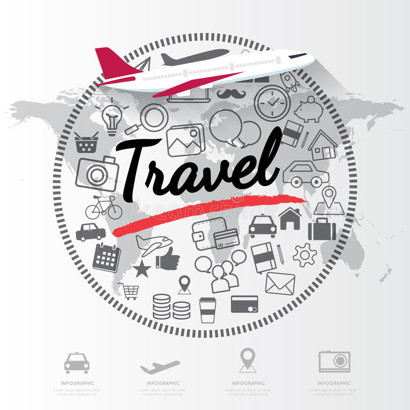 Modern infographic for travel concept stock illustration