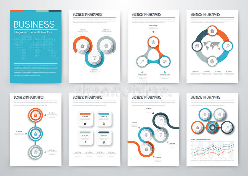 Modern infographic vector concept royalty free illustration