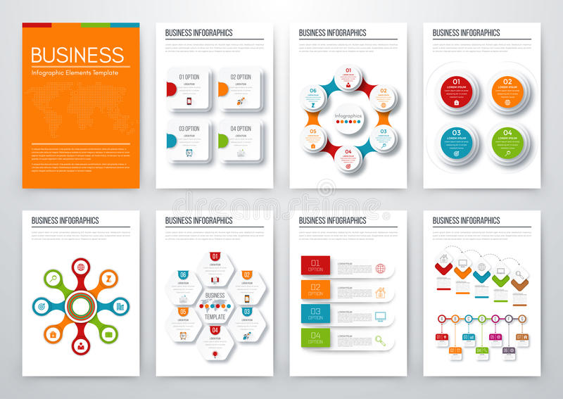 Modern infographic vector concept stock illustration