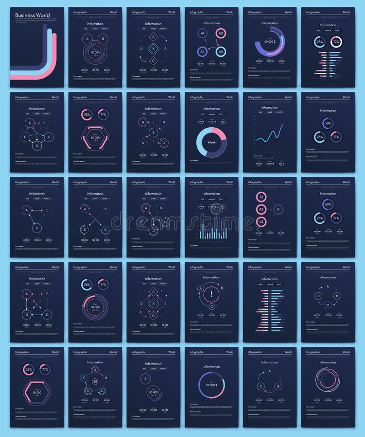 Modern infographic vector concept. Business graphics brochures. Used for workflow layout, diagram, number options, step up options, web template, infographics stock illustration