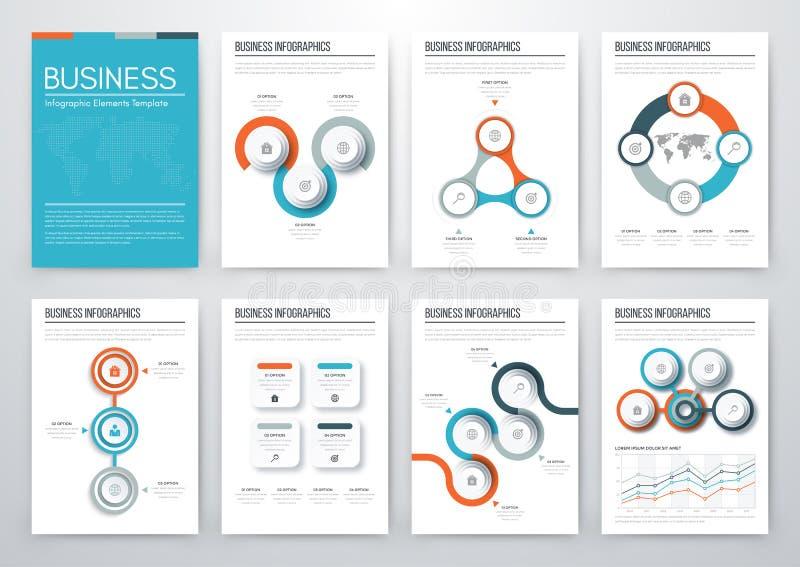 Modern infographic vectorconcept royalty-vrije illustratie