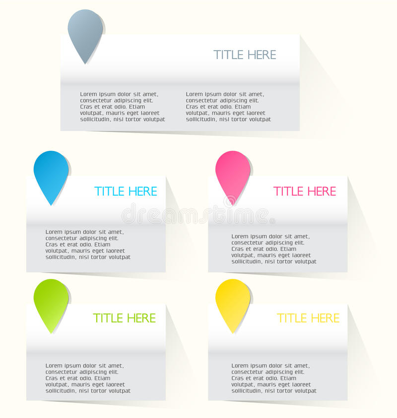 Modern infographics colorful web design template with shadow. Vector illustration vector illustration