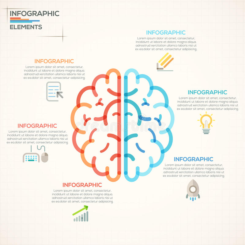 Modern Infographics Options Banner. royalty free illustration
