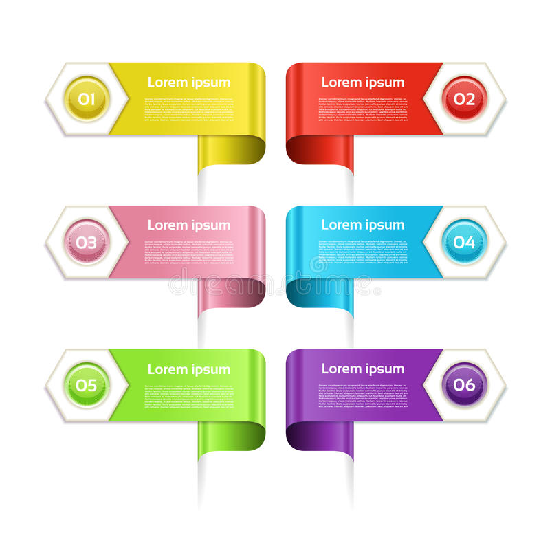 Modern infographics options banner. Vector illustration. can be used for workflow layout, diagram, number options, web design. stock illustration
