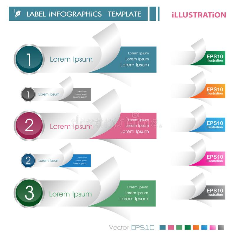 Modern infographics options banner. Vector illustration. can be used for workflow layout, diagram, number options, web design vector illustration