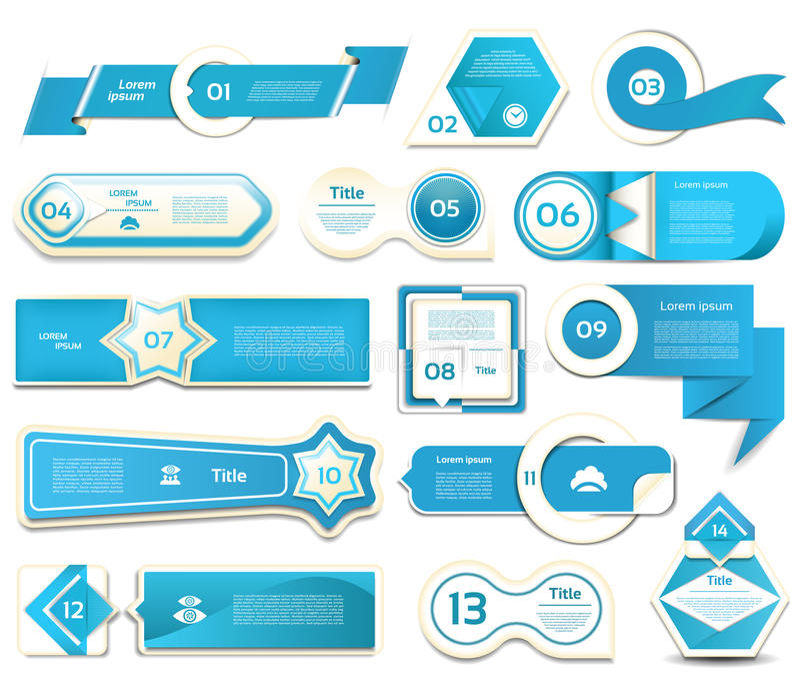 Modern infographics options banner. Vector illustration. can be used for workflow layout, diagram, number options, web design. Prints. Blue version. eps 10 stock illustration